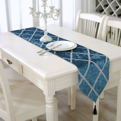 Chic Table Runner Simple Home Dining Room Mat Tassel Tablecloth Cover Decoration