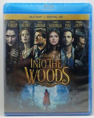 Into the Woods (Blu-ray Disc, 2015)✔☆MINT☆✔ NO DIGITAL✔☆FREE SHIPPING