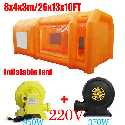 Giant Car Workstation Spray Paint Booth Inflatable Tent & 220V 370/950W Blowers