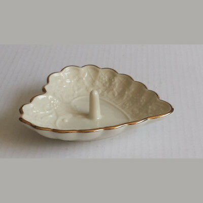 LENOX Wedding Promise Collection Ring Plate Heart Shape Porcelain Gold Trim USA