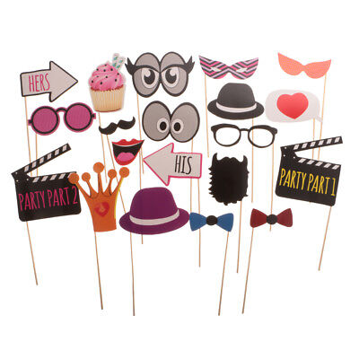 20pcs His Hers Photo Booth Props Set Photobooth Wedding Party Bridal Shower