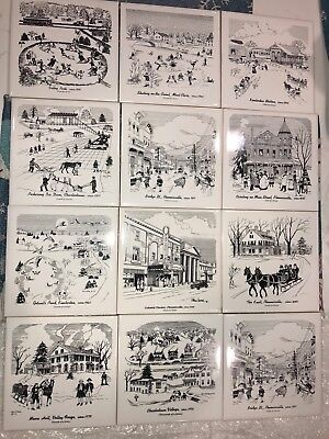 Phoenixville PA Federal Bank Collector Tiles Lot of 12 Charlestown Kimberton