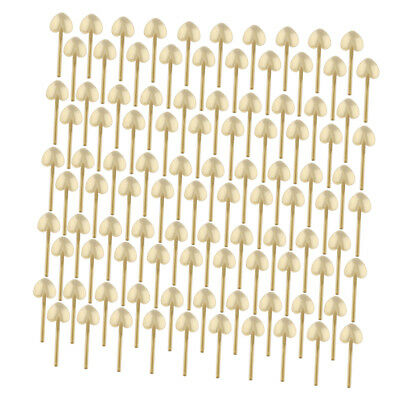 100 Pcs Cute Plastic Disposable Spoons for Party Wedding Cake Ice Cream Gold
