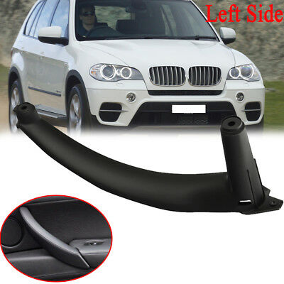 For BMW E70 X5 Plastic Left Side Inner Door Panel Handle Pull Trim Cover Black