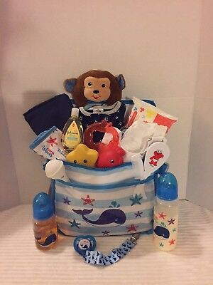 Reborn Baby Boy Doll Diaper Bag Bottles Pacifier Clothes Blanket Toy