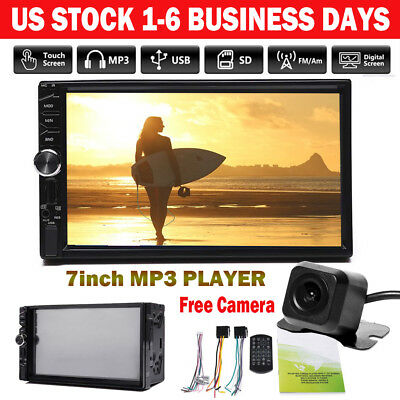7inch Car MP3 MP5 Player Touch Screen Stereo FM Radio USB/AUX-IN Bluetooth 2Din