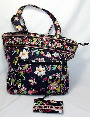 Vera Bradley Ribbons Set of 2: Large Tote & Coin Purse