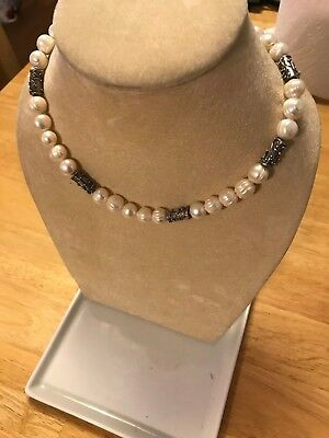 Lori Bonn Pearl & Sterling Silver Necklace (56Q05PRL.65) *