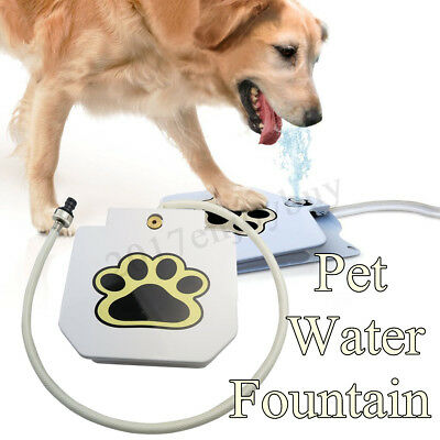 Outdoor Pet Dog Activated Drinking Water Fountain Hose Step Spray Foot Pedal 1