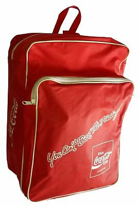 Coca Cola Backpack with Zips Vintage