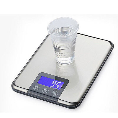 Digital Kitchen Scale 15KG/1G Slim Electronic LCD Multifunction Balance Weight