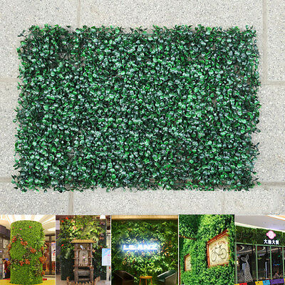 Artificial Plant Foliage Hedge Grass Mat Greenery Panel Decor Wall Fence