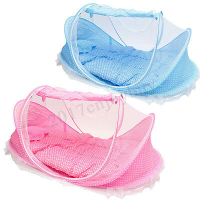 Foldable Infant Baby Mosquito Net Travel Cot Tent Mattress Cradle Bed Pillow 1