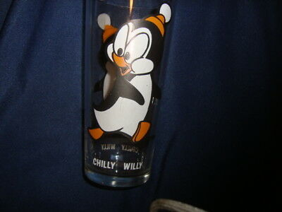 Chilly Willie Pepsi Walter Lantz Collector Glass White Letters