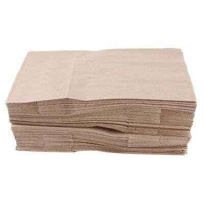 100 Pcs Kraft Paper Food Packing Bags Unwaxed Oilproof Take-out Takeaway