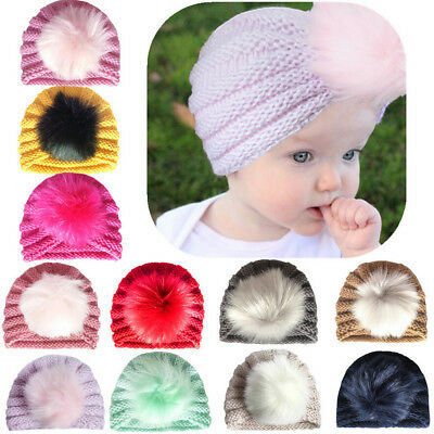 Baby Kids Soft Cotton Beanie Girl Boy Knit Hat Toddler Infant Newborn Warm Cap