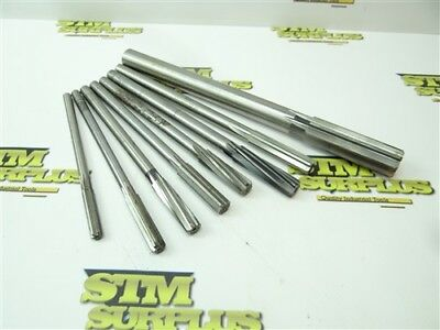 "Lot Of 8 Assorted Hss Chucking Reamers .3145"" To 7/8"" Morse Ap"