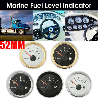 5 Types 316L Stainless Steel 52MM 9~32V Vehicle Boat Tank Level Gauge Indicator