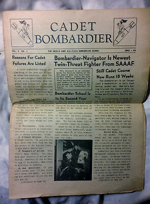 1943 WWII Cadet Bombardier Newspaper San Angelo Army Air Field Bombardier School