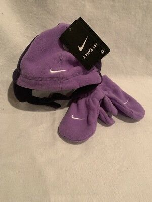 e25ba369cdb NEW TODDLER GIRLS NIKE WINTER HAT GLOVES SET SIZE 2T-4T Purple Nike ...