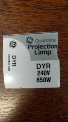 Ge Quartzline Dyr 240V  650W Projection Lamp