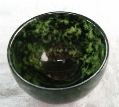 100%Natural black Green Jade Cup Bowl Jade Winebowl Diameter about 5.0cm 2inch