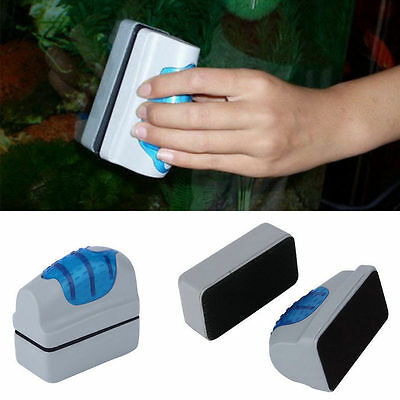 Efficient Floating Magnetic Brush Aquarium Fish Tank Glass Algae Scraper Clean C