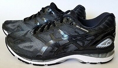 best service ca0f5 f2461 ASICS T702N MENS Gel-Nimbus 19 Running Shoes, Black/Onyx/Silver Sz 8.5 & 9  US 4E