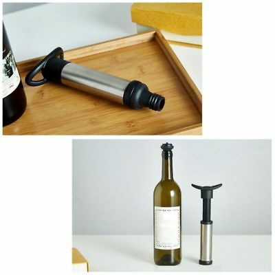 New Reusable Bottle Vacuum Wine Preserver Saver Sealer Pump With 2 Stoppers