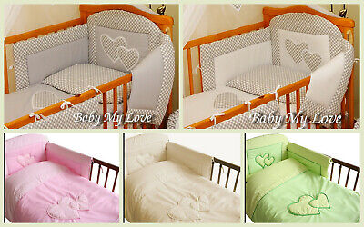 2, 3,4,5 or 6 pcs Nursery bedding set/Bumper  fit Cot or Cot Bed/Cotbed