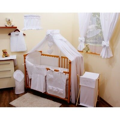 STUNNING   CANOPY DRAPE +CANOPY HOLDER / ROD TO FIT BABY COT or COT BED