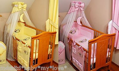 BIG 485 cm WIDTH 4 baby Cot or Cot bed STUNNING  CANOPY  DRAPE// MOSQUITO NET