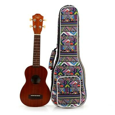 "UK 21/23/26"" Concert Ukulele Floral Cases Gig Bag Heavy Duty Padded Ukulele Bag"