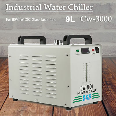 CW-3000 Thermolysis Industrial Water Chiller for 60/80W CO2 Glass Tube 110V USA