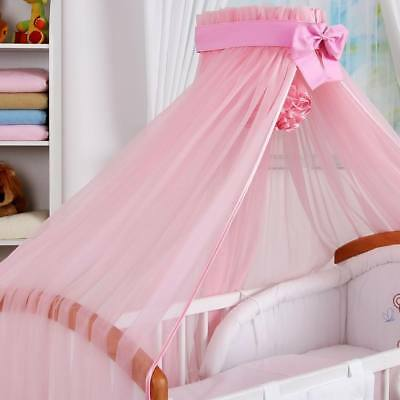 STUNNING /BABY/COT/COTBED BIG CANOPY DRAPE/480cm wide +  HOLDER/ROD attached