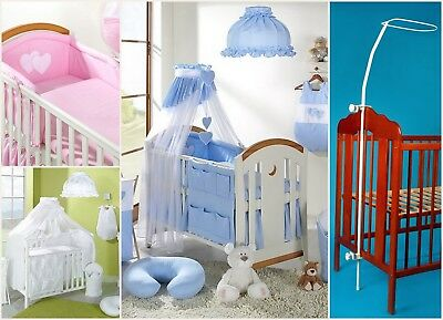 7 pcs BABY BEDDING SET TO FIT BABY COT or COTBED/ TEDDY BEAR  / HEART/480cm