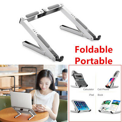 Solid Portable Laptop Stand Adjustable Style Ventilated Aluminum Tablet Holder