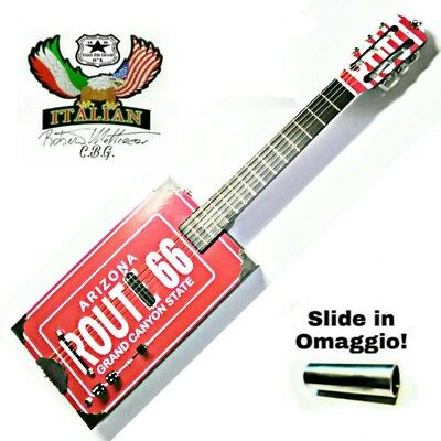 Cigar Box Guitar ROUTE 66/6 by Robert Matteacci Italian Liutery