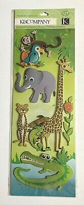 "K & Company ""On A Safari"" Adhesive Animal Chipboard"