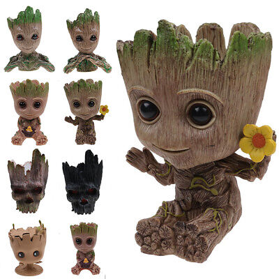 Guardians of The Galaxy Baby Groot Figure Flowerpot Style Pen Pot Toy Gifts
