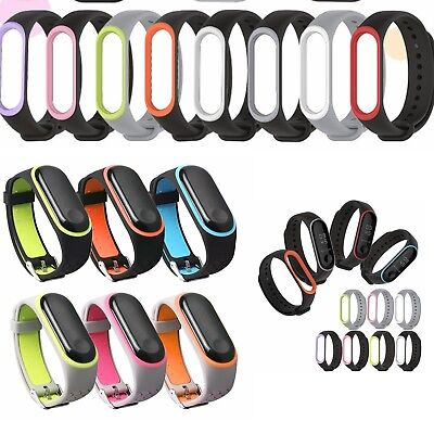 Replacement Silicone Sport Wrist Watch Bands Bracelet Strap For Xiaomi Mi Band 3