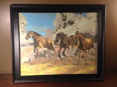 Paint By Number Framed Horse Painting