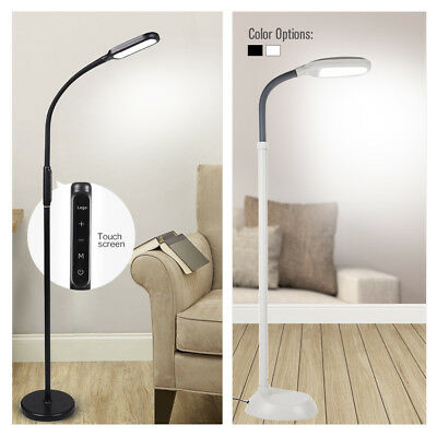 LED Adjustable Floor Lamp Standing Light Reading Office Dimmable Gooseneck Home