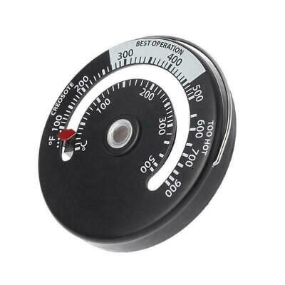 Magnetic Stove Pipe Chimney Thermometer Metal Temperature Gauge For Wood Log