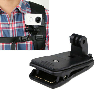 360° Rotary Backpack Hat Belt Clip Fast Clamp Mount for Gopro Hero 5 4 3+ YYR