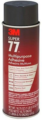 3M Spray Adhesive 16.75 oz. Super 77 Multi-Purpose Transparent Resist Dripping