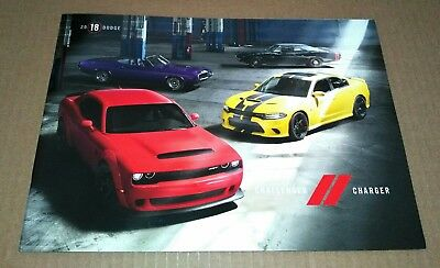 2018 Dodge Challenger & Charger includes HELLCAT & DEMON Sales Brochure Canada