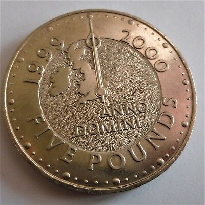 1999 Great Britain,end If The Millennium £5.00 Coin