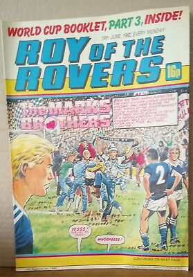 Roy of the Rovers Comic in very good condition dated 19th June 1982
