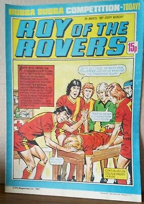 Roy of the Rovers Comic in very good condition dated 7th March 1981